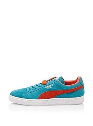 Puma Zapatillas Suede Classic+ (Azul / Naranja)
