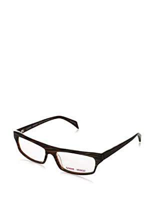 Mikli par Mikli Women's Modified rectangle Eyewear, Brown, One Size
