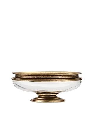 IMAX Perry Pedestal Bowl, Bronze/Silver