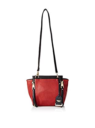 POVERTY FLATS by rian Women's Double Strap Shoulder Bag, Burgendy