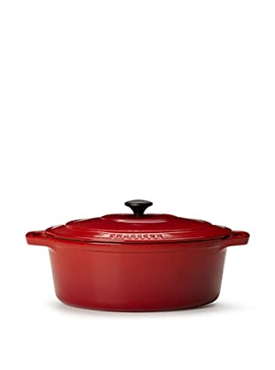 Chasseur 6-Quart Oval Casserole with Lid (Red)