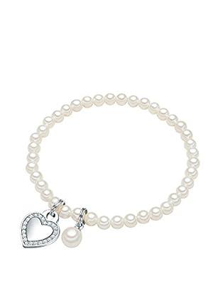 Perldesse Armband  silberfarben