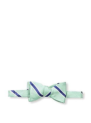 Bruno Piattelli Men's Striped Bow Tie, Green