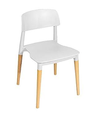 Glam Home Stuhl 2er Set Lisboa weiß/braun