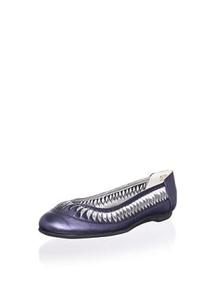 Pliner Jrs Sonia Ballet Flat (Blue Pearlized)