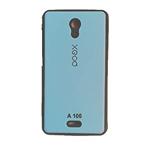 DealzBreaker Back Case Cover For Micromax A106 Unite 2 (Sky Blue & Black)