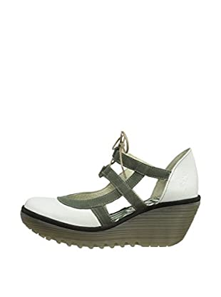 Fly London Zapatos Rug (Blanco / Verde)