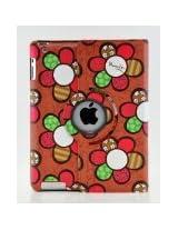 LiViTech(TM) Colorful Sun Flower Design Series 360 Degree Rotating Smart Cover Case for Apple iPad 2/3/4 (Red)