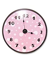 Best Seller Pink & Brown Dot Clock by Trend Lab