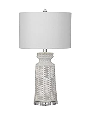 Bassett Mirror Company Sidney 1-Light Table Lamp, White