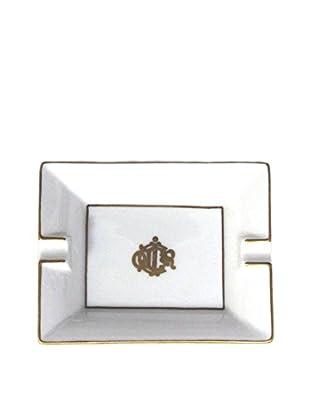 Dior Small Porcelain Ashtray, White/Gold