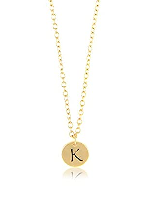 Ettika 18K Gold-Plated K Initial Charm Necklace