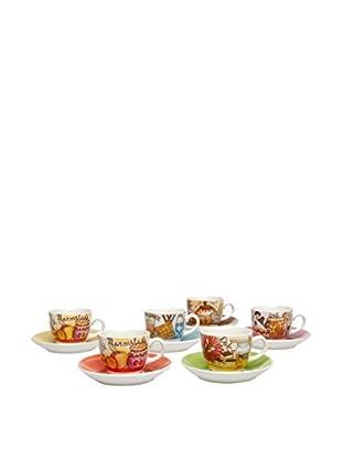 Tognana Kaffeetasse mit Untertasse 6er Set Iris Breakfast