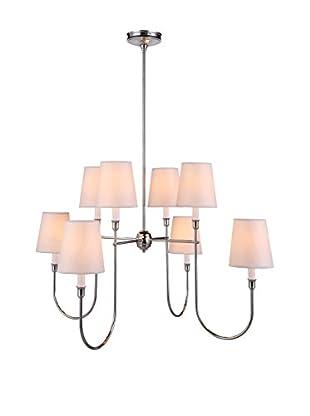 Urban Lights Lancaster 8-Light Pendant Lamp, Polished Silver