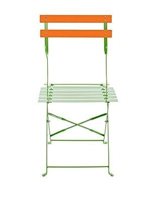 Co.Import Silla Verde/Naranja