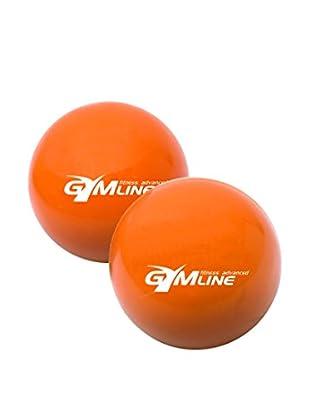 GYMLINE Fitnessball 2x orange