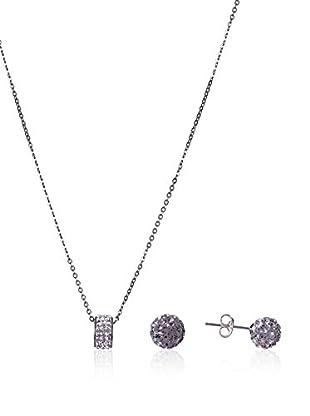 Córdoba Joyeros Conjunto de collar y pendientes  plata de ley 925 milésimas