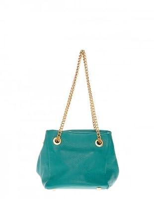 Elysa Satchel-Bag mit Gliederkette (Türkis)