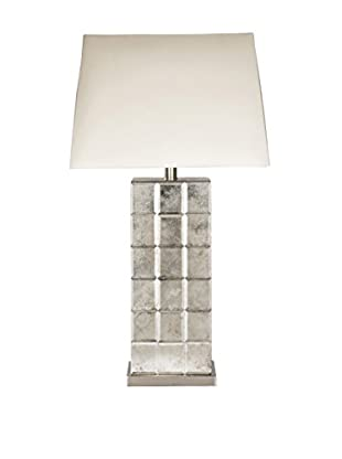 Surya Silas 1-Light Table Lamp, Antiqued Mirror