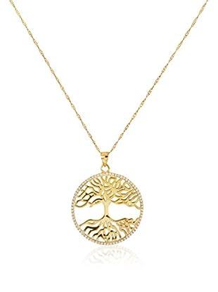 Cordoba Jewels Conjunto de cadena y colgante plata de ley 925 milésimas