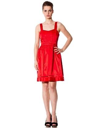 Naf Naf Vestido tirantes (Rojo)