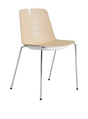 CONTRAST Stuhl 2er Set Mindy sand/weiß