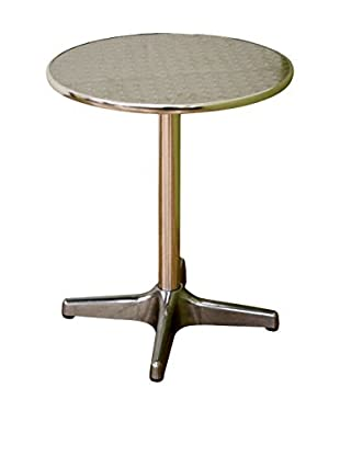 Baxton Studio Graziella Steel-Base Pedestal Table, Silver