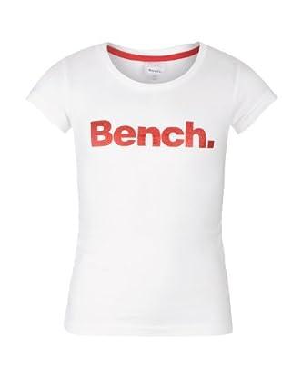Bench Mädchen T-Shirt New Deckstar B (Bright White)