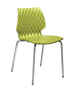 Metalmobil Stuhl 2er Set Uni-550 grün/chrom