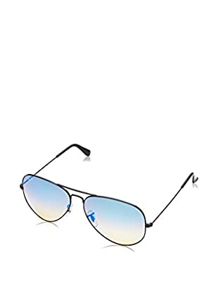 Ray-Ban Gafas de Sol 3025 _002/4O AVIATOR LARGE METAL (62 mm) Negro Brillo / Azul