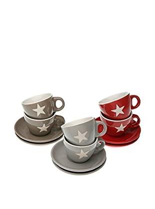 Zings Taza De Cafécon Plato 12 Piezas Stars