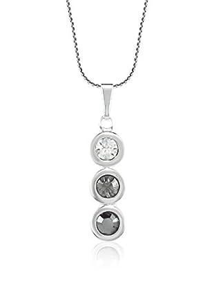 Absolute Crystals Set Kette und Anhänger 3 Mini Dots grauweiß/silberfarben