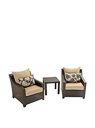 RST Brands Deco 2 Club Chairs & Side Table Set, Beige
