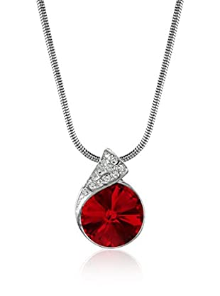 Absolute Crystals Set Kette und Anhänger Capped Rivoli rot