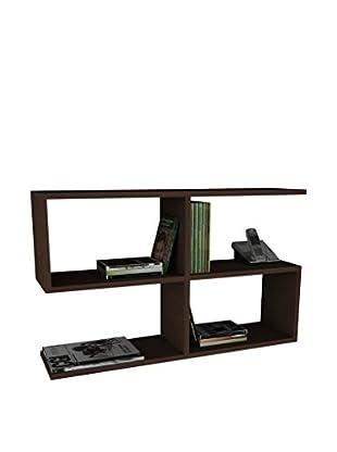 Dekorister Bücherregal Beliz dunkelbraun 22x90x55,5cm