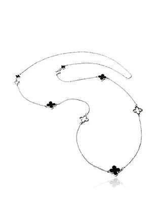 Amrita Singh Collar Silver Enamel Clover