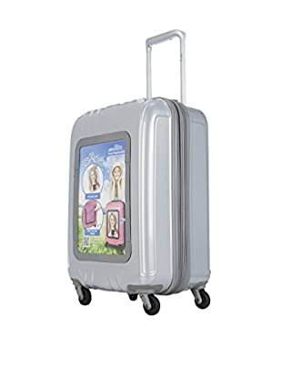 Selfie Club 20 Inch Personalized Carry On with 360 Degree 4 Wheel System, Silver