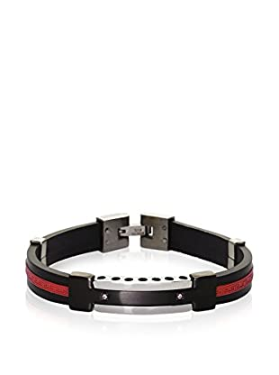 Blackjack Jewelry Armband BJB78R Red/Black/Steel