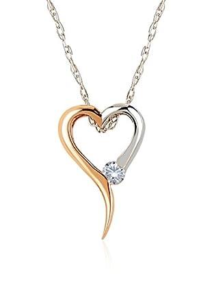 Divas Diamond Collar Diamond Heart Gold