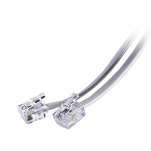【クリックで詳細表示】8ONE テレホンコード 10m ホワイト ETL-1100W