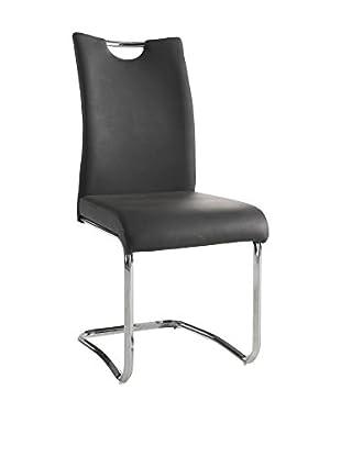 Modern Loft Stuhl 2er Set Chich anthrazit