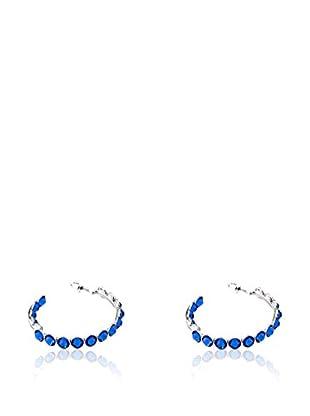 SWAROVSKI ELEMENTS Ohrringe Kreole blau
