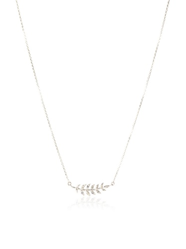 Eddera Silver White Topaz Epi Necklace