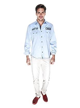 Giorgio Di Mare Camisa Worked Muzio (Azul)