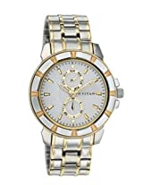 Titan Regalia Analog White Dial Men's Watch - NC1542BM01