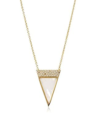 Chloe & Theodora Mother of Pearl Inlay Triangle Necklace