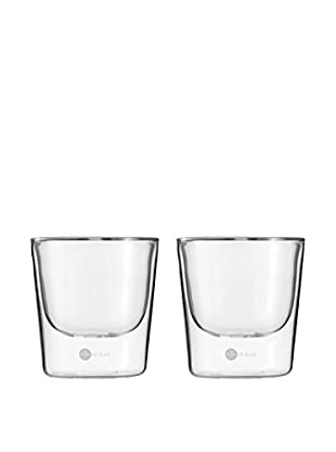 Jenaer Glas Set of 2 Hot 'n' Cool Collection 6.4-Oz. Double Walled Glass Tumblers