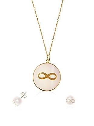 My Silver Conjunto de cadena, colgante y pendientes Infinito
