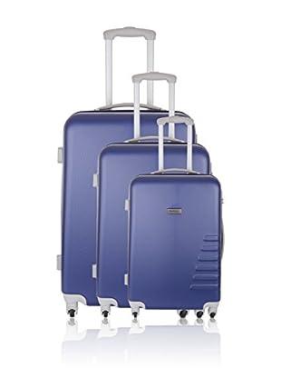Travel ONE Set de 3 trolleys rígidos Batley Azul