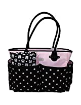 Carter's Owls Tote Bag - Black/Pink Dot